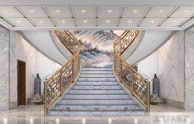140平米別墅中式風格樓梯間圖片大全