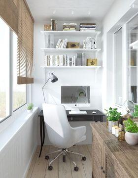 80平米一室一厅北欧风格阳台装修效果图
