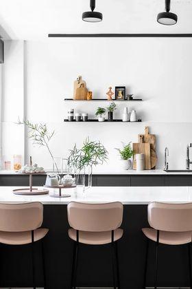 100平米三现代简约风格厨房装修案例