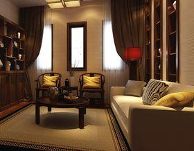 110平米三室两厅中式风格书房图片
