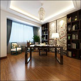 140平米三室一厅中式风格书房效果图