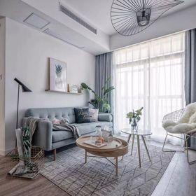 110平米三室两厅北欧风格客厅装修案例