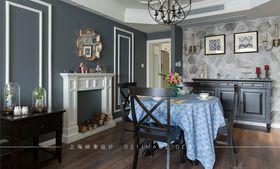 富裕型130平米三室两厅美式风格餐厅欣赏图