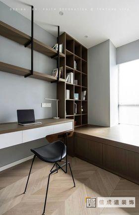 130平米四室两厅现代简约风格书房装修图片大全
