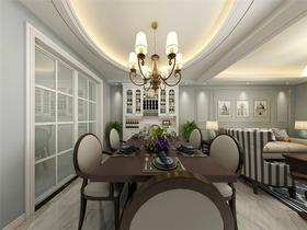140平米復式美式風格餐廳裝修案例