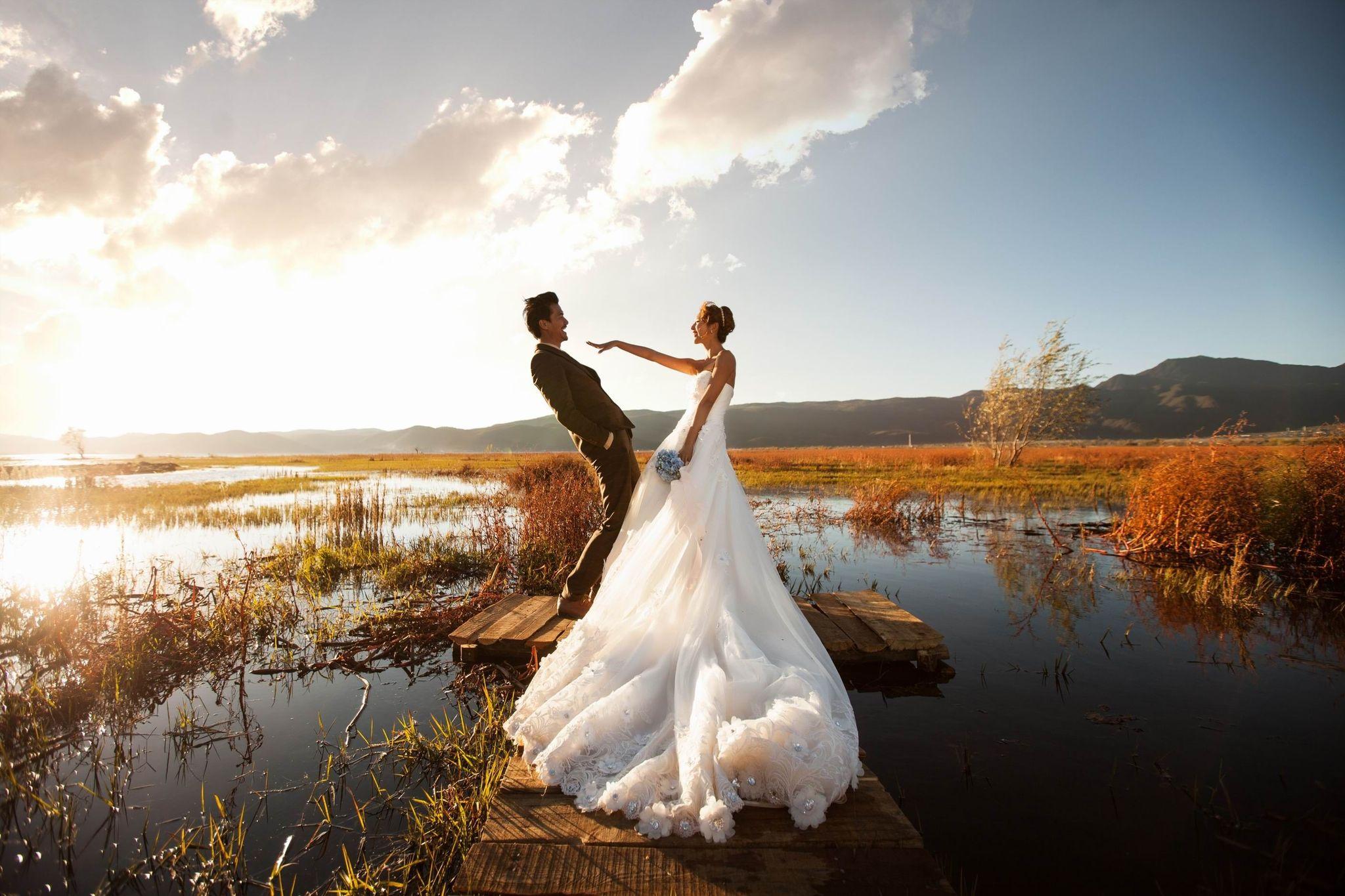 这么拍婚纱照,想不美都很难