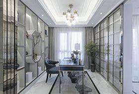 130平米四室两厅法式风格书房设计图