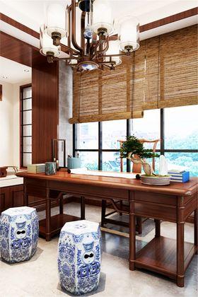 140平米四室四厅中式风格书房欣赏图