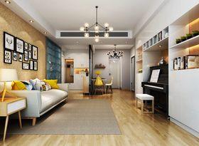90平米三室两厅混搭风格客厅图片