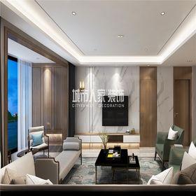 100平米三室兩廳現代簡約風格客廳裝修圖片大全