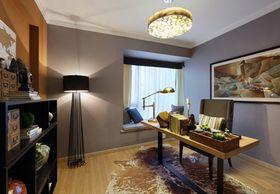 110平米三室一厅现代简约风格书房图片
