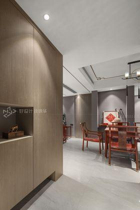120平米三室兩廳現代簡約風格餐廳圖