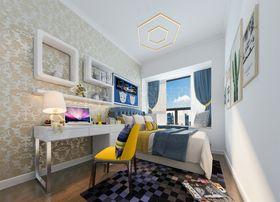90平米三室两厅混搭风格儿童房图片