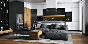 120平米三混搭風格客廳裝修效果圖