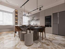 140平米复式现代简约风格餐厅效果图