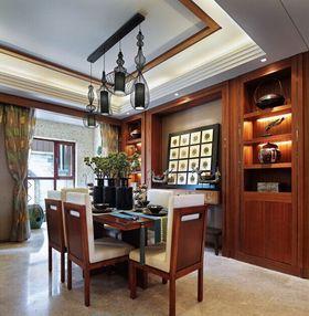 富裕型110平米三室两厅东南亚风格餐厅图