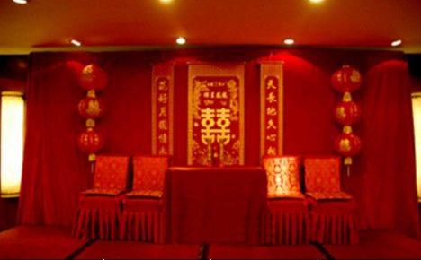 农村婚礼现场布置不一样的中式婚礼