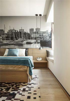 富裕型70平米三室两厅北欧风格卧室图