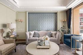 140平米三室兩廳混搭風格客廳圖
