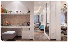 120平米三室两厅现代简约风格书房设计图