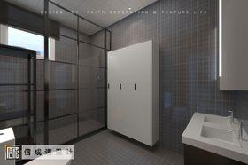 110平米三室两厅现代简约风格卫生间设计图