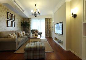 90平米美式风格客厅图