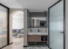 90平米公寓现代简约风格卫生间欣赏图