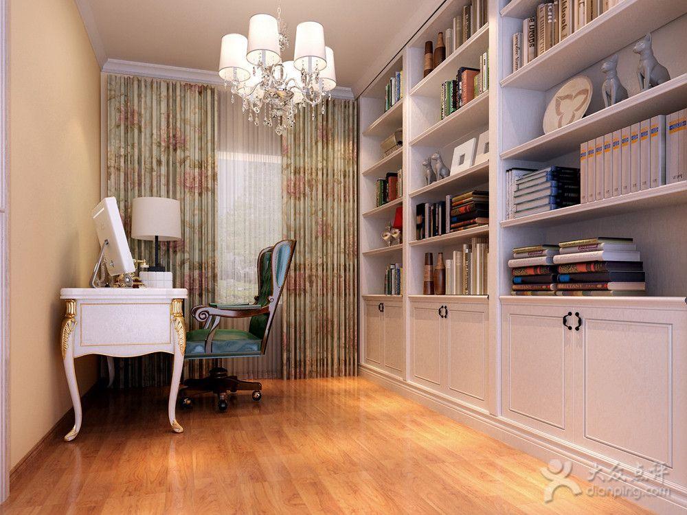 欧式风格书房照明与灯光选用