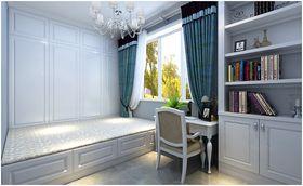 140平米三室两厅地中海风格书房设计图