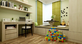 140平米三室三厅混搭风格儿童房效果图