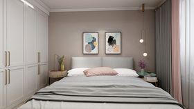110平米三室一廳現代簡約風格臥室裝修圖片大全