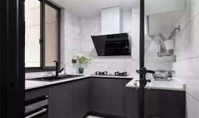 90平米三室两厅北欧风格厨房图片
