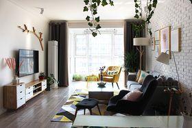 140平米三室一厅北欧风格客厅图片