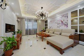 富裕型140平米别墅混搭风格客厅装修案例