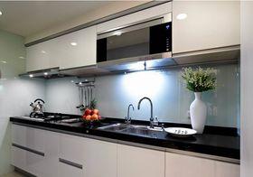 110平米三室一厅混搭风格厨房图