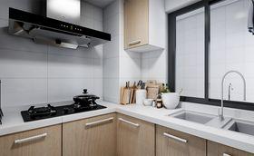 富裕型90平米三现代简约风格厨房图