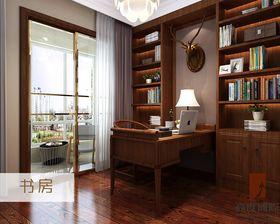 20万以上140平米三室一厅混搭风格书房装修案例