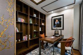 120平米三室两厅中式风格书房图片大全