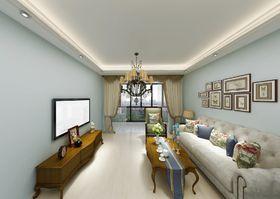 80平米美式風格客廳裝修效果圖