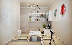 100平米三室两厅中式风格书房欣赏图