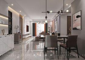 120平米三室一廳現代簡約風格餐廳圖