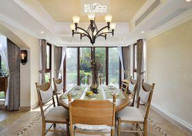 豪华型140平米别墅美式风格餐厅装修案例