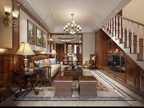 140平米美式风格客厅设计图