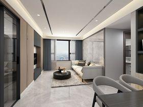 80平米三室一厅现代简约风格客厅效果图