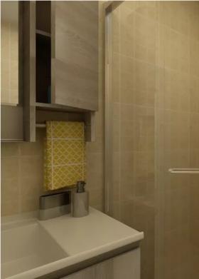 60平米一居室现代简约风格卫生间图片