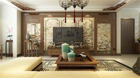 120平米三室两厅中式风格客厅设计图