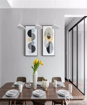 90平米三室一厅现代简约风格餐厅图