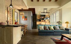 富裕型80平米三室一厅田园风格客厅图片大全
