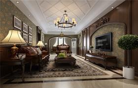 140平米三室两厅新古典风格客厅效果图