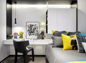 80平米现代简约风格儿童房图片大全